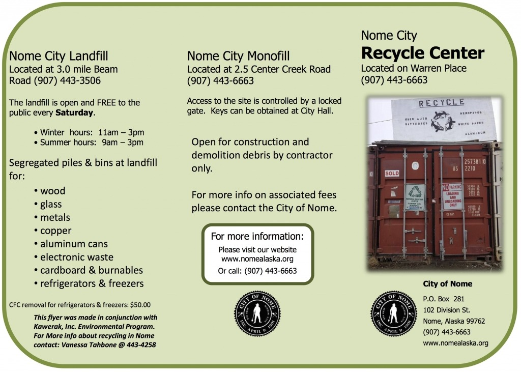 city of nome recycle center