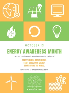 Energy Awareness Month is in October! Get ready.
